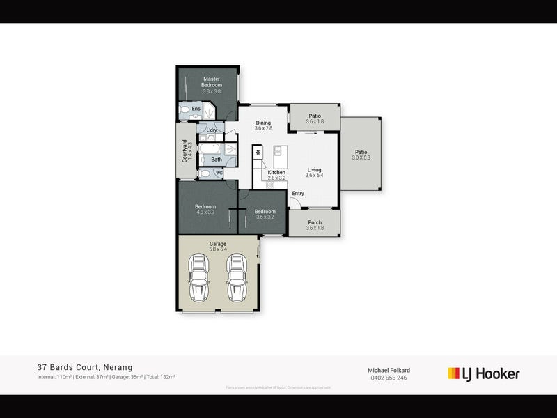 37 Bards Court, Nerang, Qld 4211 - floorplan