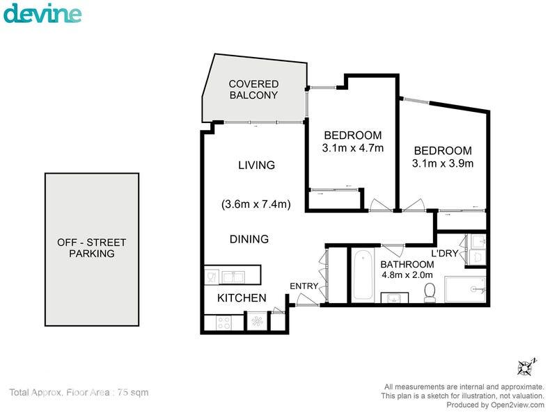 11/166 Bathurst Street, Hobart, Tas 7000 - floorplan