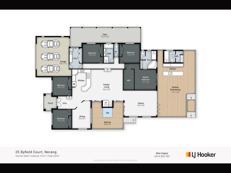 25 Byfield Court, Nerang, Qld 4211 - floorplan