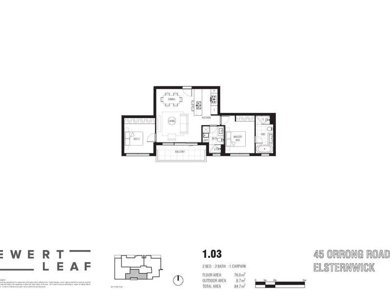 103/45 Orrong Road, Elsternwick, Vic 3185 - floorplan