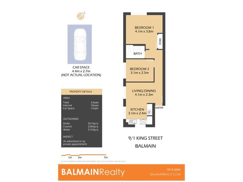 9/1 King Street, Balmain, NSW 2041 - floorplan