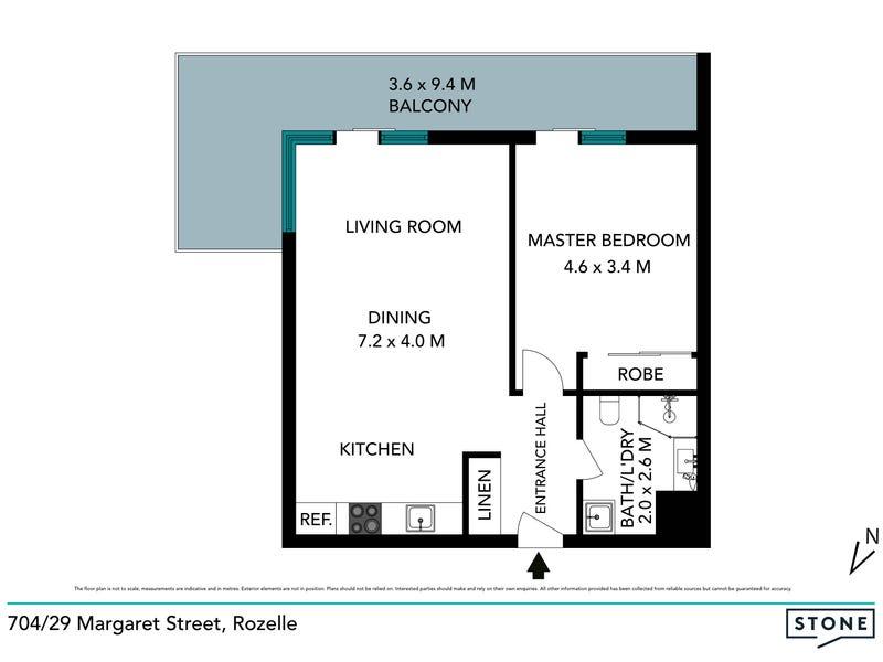 704/29 Margaret Street, Rozelle, NSW 2039 - floorplan