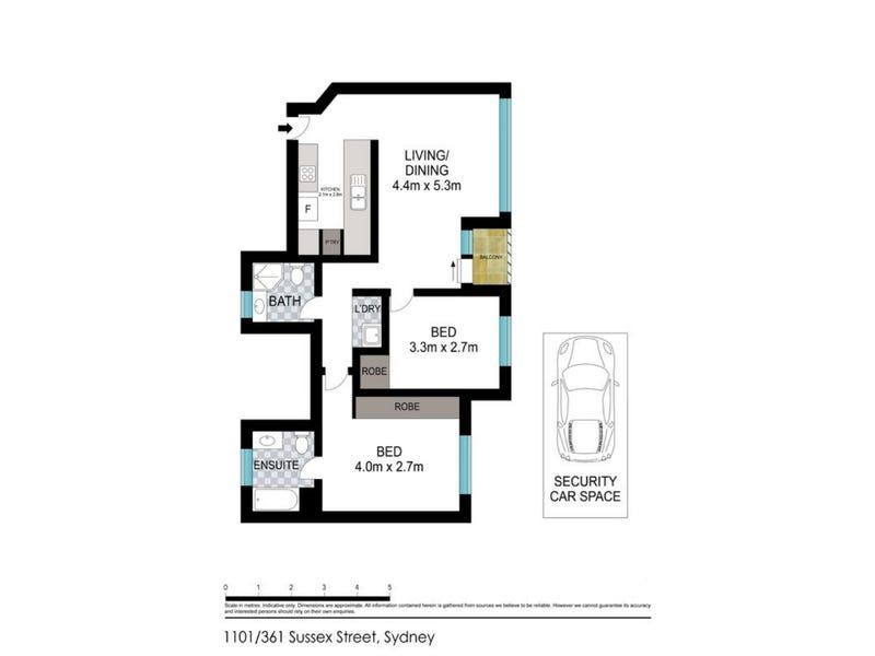1101/361 Sussex Street, Sydney, NSW 2000 - floorplan