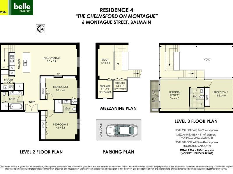 4/6 Montague Street, Balmain, NSW 2041 - floorplan