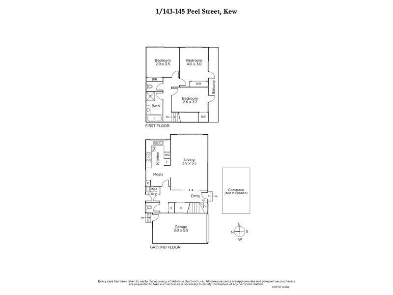 1/143-145 Peel Street, Kew, Vic 3101 - floorplan