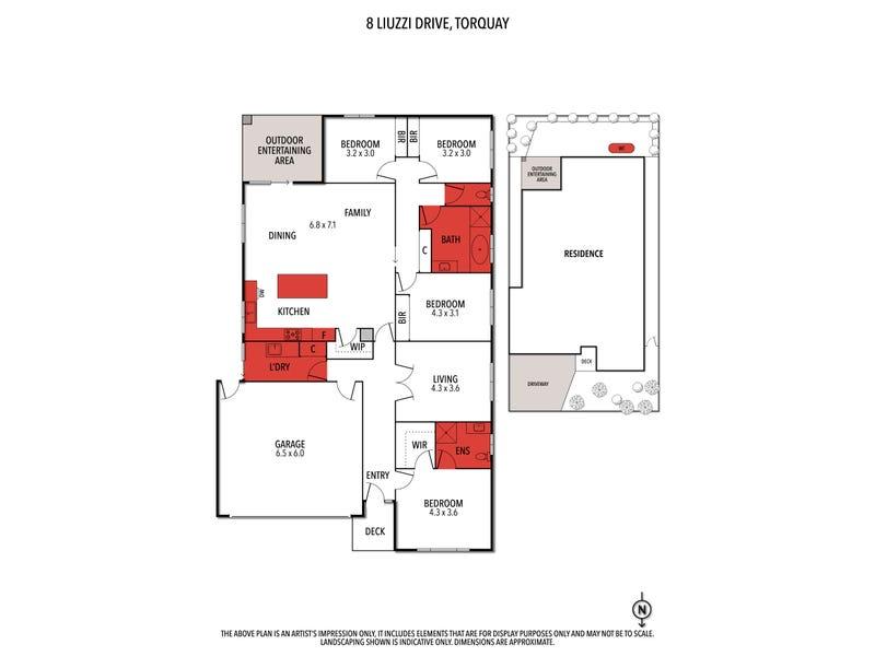 8 Liuzzi Drive, Torquay, Vic 3228 - floorplan