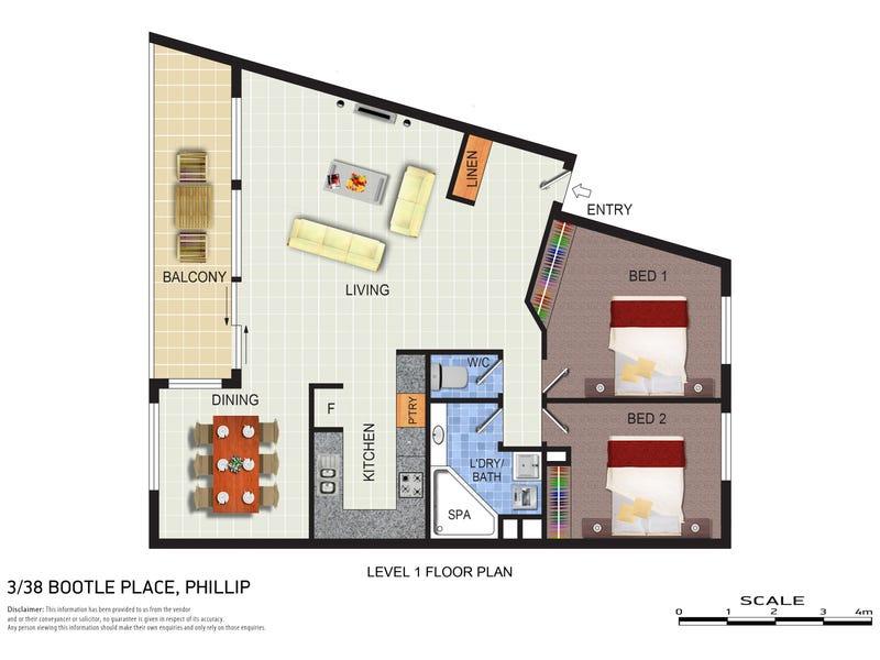 3/38 Bootle Place, Phillip, ACT 2606 - floorplan