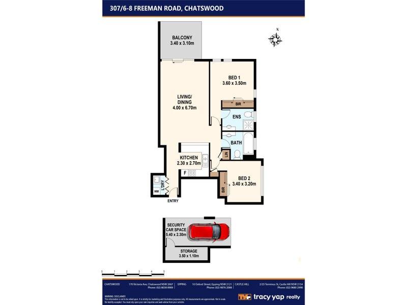 307/6-8 Freeman Road, Chatswood, NSW 2067 - floorplan