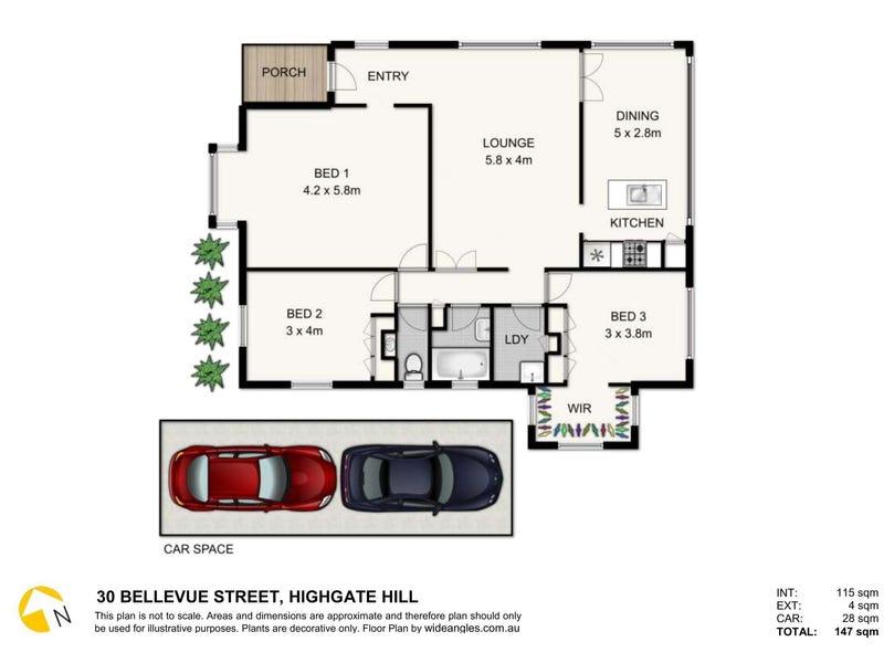 30 Bellevue Street, Highgate Hill, Qld 4101 - floorplan