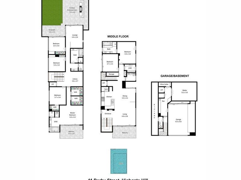 41 Derby Street, Highgate Hill, Qld 4101 - floorplan