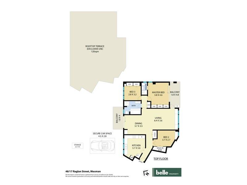 48/17 Raglan Street, Mosman, NSW 2088 - floorplan