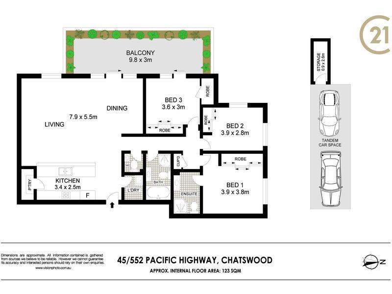 45/552 Pacific Highway, Chatswood, NSW 2067 - floorplan