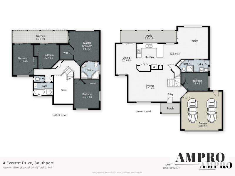 4 Everest Drive, Southport, Qld 4215 - floorplan