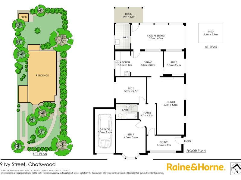 9 Ivy Street, Chatswood, NSW 2067 - floorplan