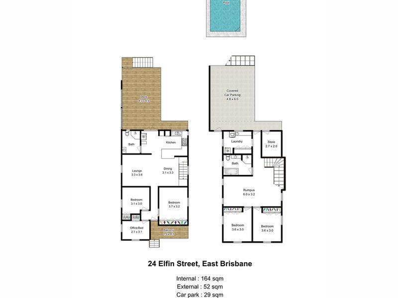 24 Elfin Street, East Brisbane, Qld 4169 - floorplan