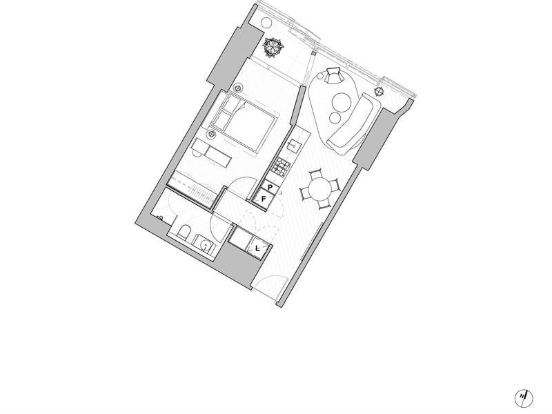 1605A/250 Spencer Street, Melbourne, Vic 3000 - floorplan