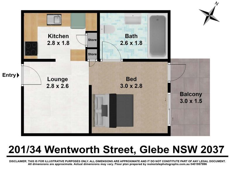 201/34 Wentworth Street, Glebe, NSW 2037 - floorplan