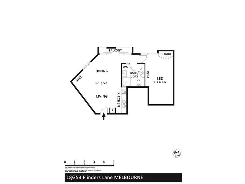1B/353 Flinders Lane, Melbourne, Vic 3000 - floorplan