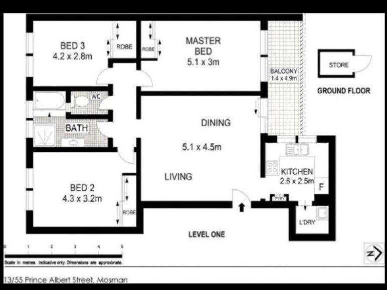 13/55 Prince Albert Street, Mosman, NSW 2088 - floorplan