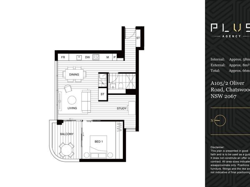 A105/2 Oliver Street, Chatswood, NSW 2067 - floorplan