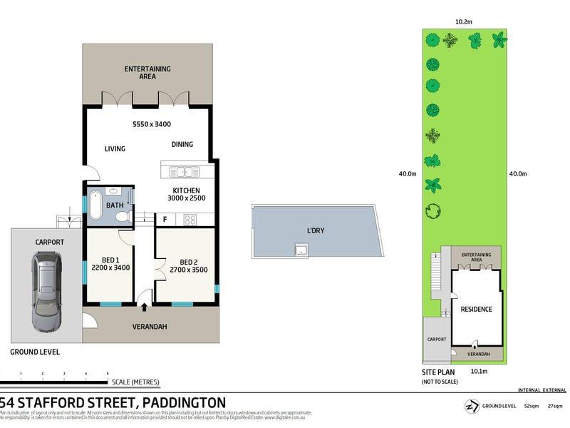 54 Stafford Street, Paddington, Qld 4064 - floorplan