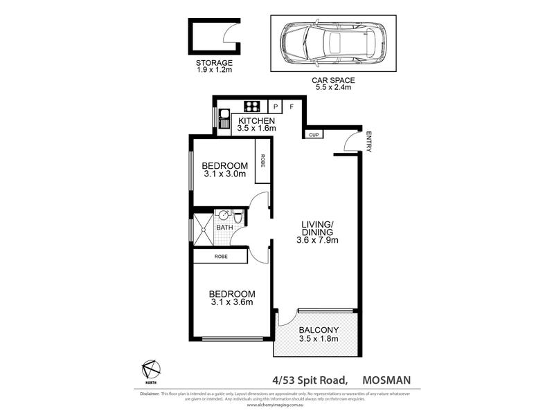 4/53 Spit Road, Mosman, NSW 2088 - floorplan