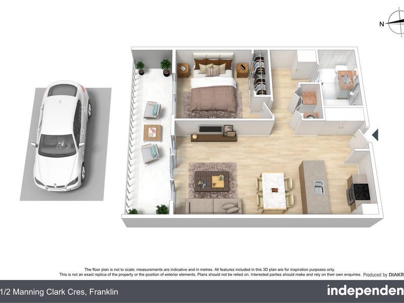 21/2 Manning Clark Crescent, Franklin, ACT 2913 - floorplan