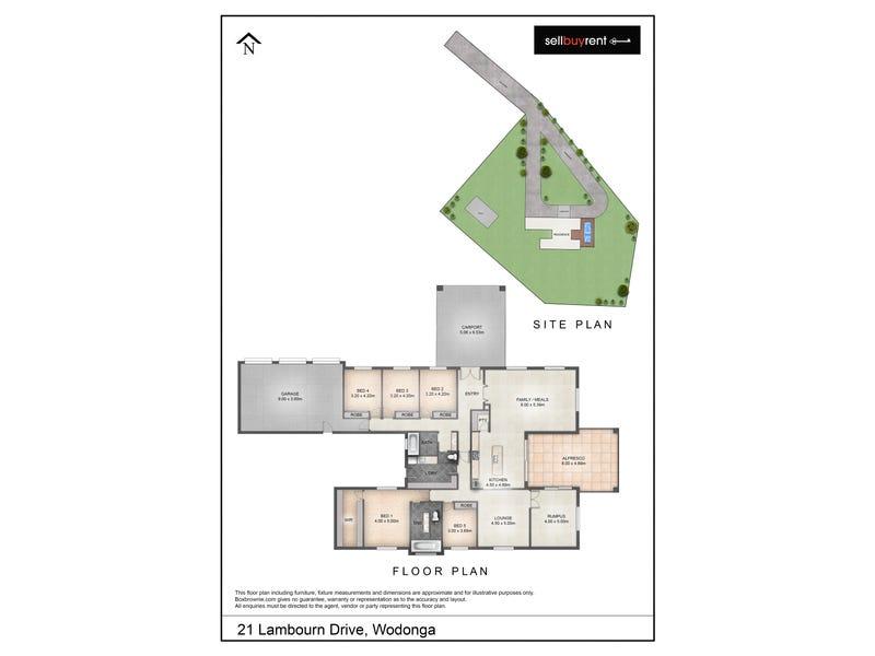 21 LAMBOURN DRIVE, Wodonga, Vic 3690 - floorplan