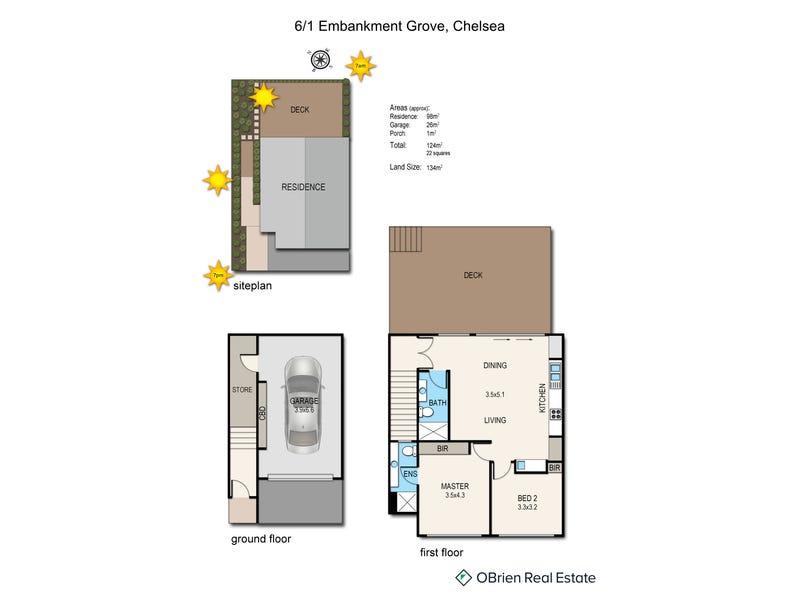6/1 Embankment Grove, Chelsea, Vic 3196 - floorplan