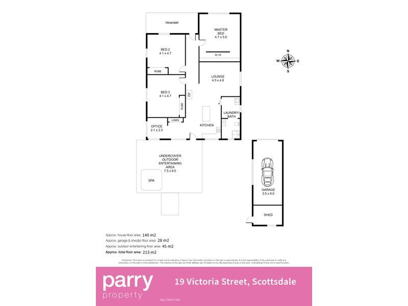 19 Victoria Street, Scottsdale, Tas 7260 - floorplan