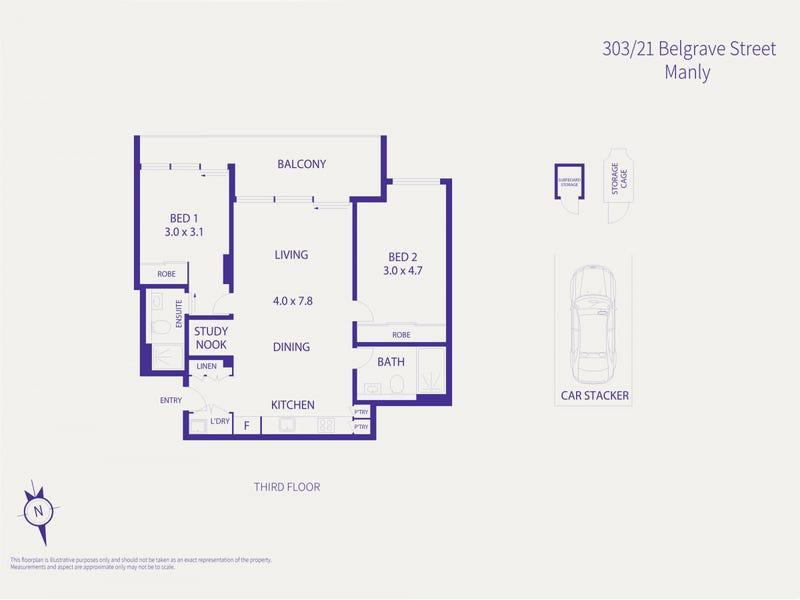 303/13 Whistler Street, Manly, NSW 2095 - floorplan