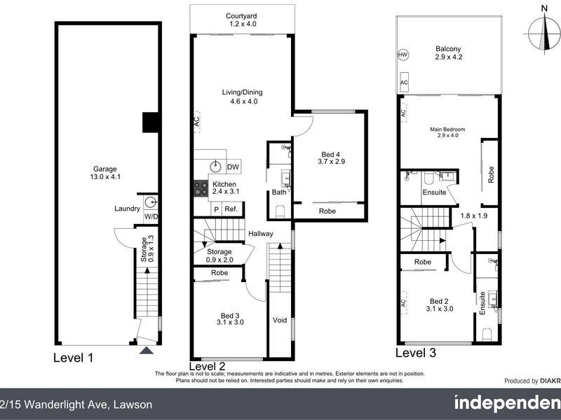 12/15 Wanderlight Avenue, Lawson, ACT 2617 - floorplan