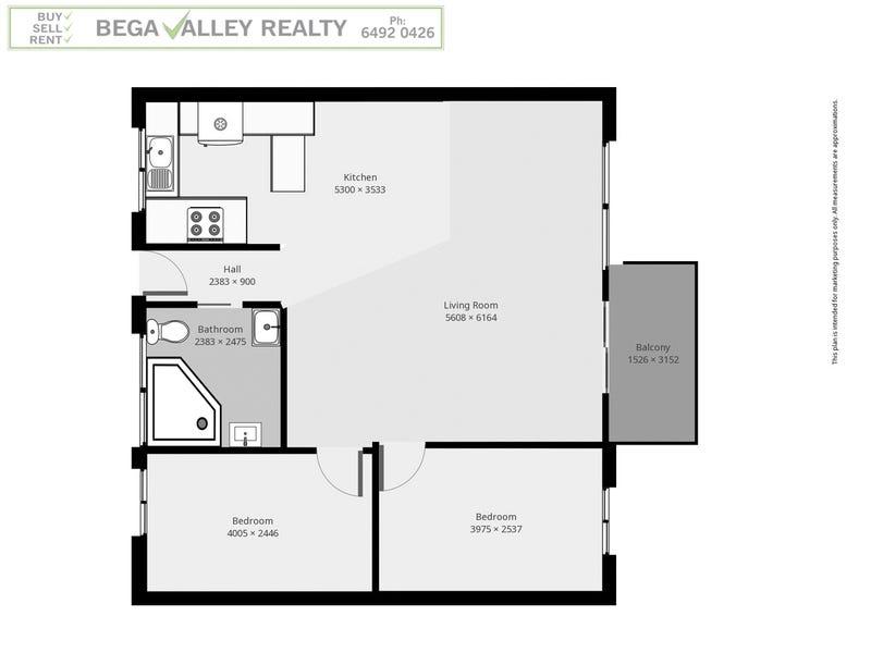 1/2 Wonga Street, Merimbula, NSW 2548 - floorplan