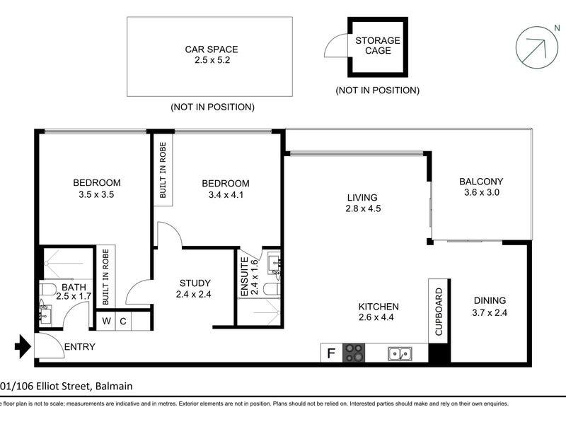 201/106 Elliott Street, Balmain, NSW 2041 - floorplan