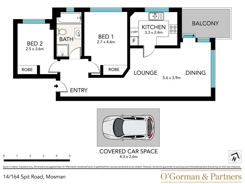 14/164 Spit Road, Mosman, NSW 2088 - floorplan
