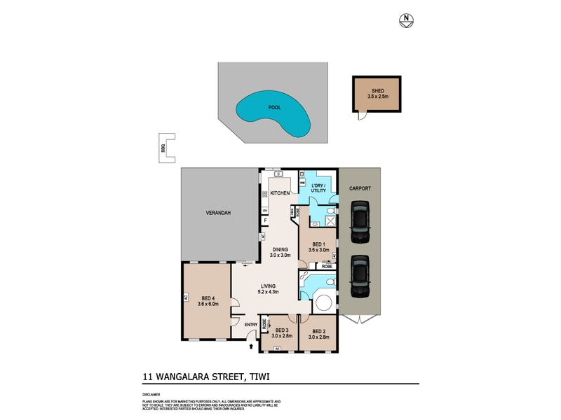 11 Wangalara Street, Tiwi, NT 0810 - floorplan