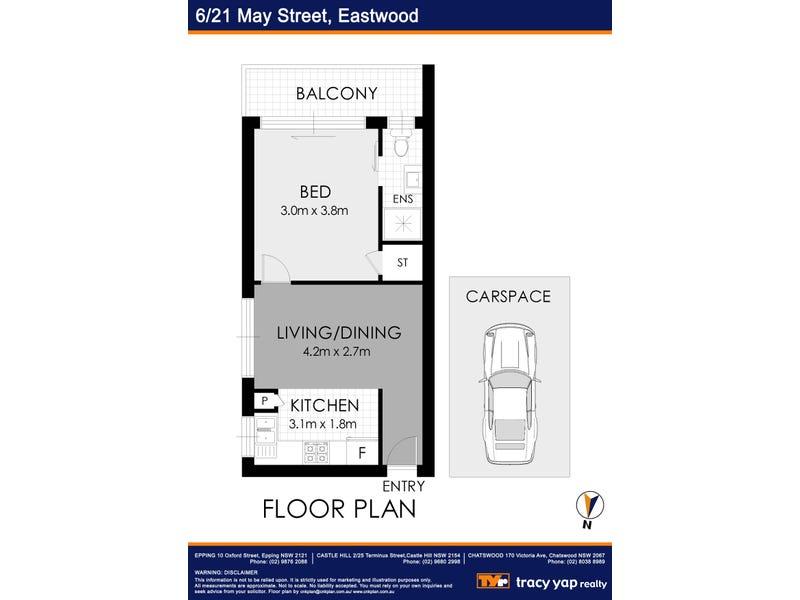 6/21 May Street, Eastwood, NSW 2122 - floorplan
