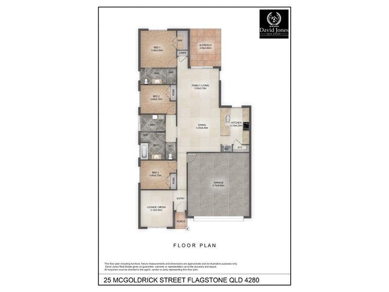 25 MCGOLDRICK STREET, Flagstone, Qld 4280 - floorplan