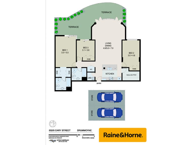 502/5 Cary Street, Drummoyne, NSW 2047 - floorplan
