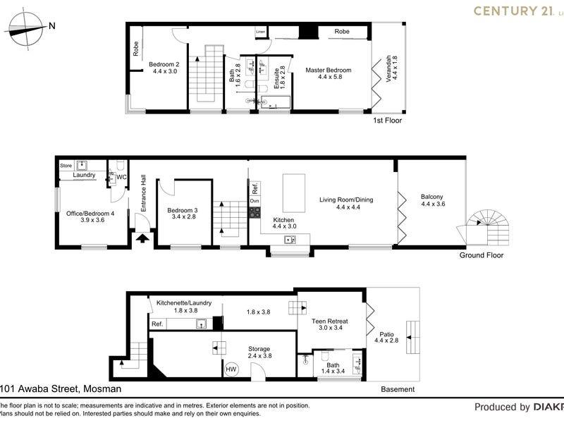 101 Awaba Street, Mosman, NSW 2088 - floorplan