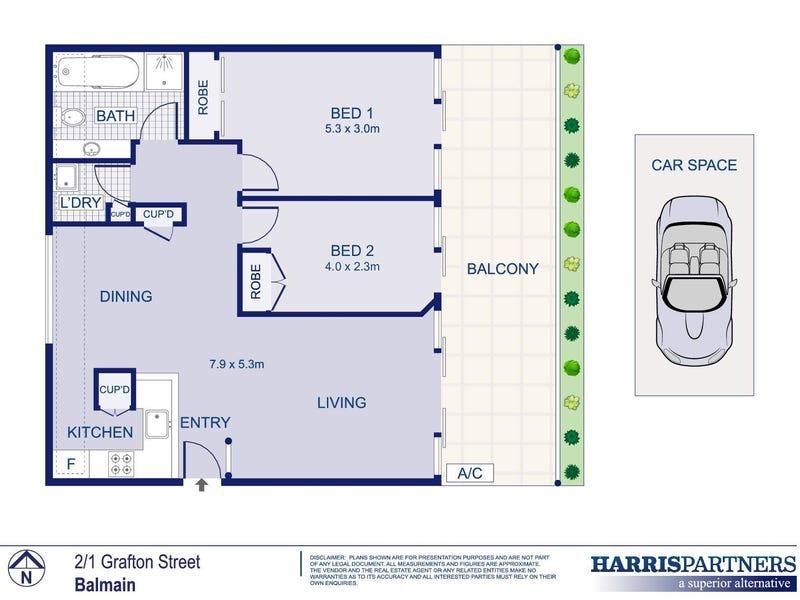2/1-13 Grafton Street, Balmain, NSW 2041 - floorplan