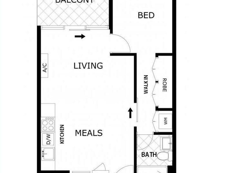2909/220 Spencer Street, Melbourne, Vic 3000 - floorplan