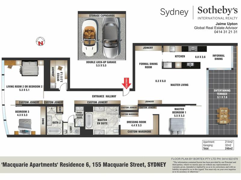 'Residence 6', 155 Macquarie Street, Sydney, NSW 2000 - floorplan