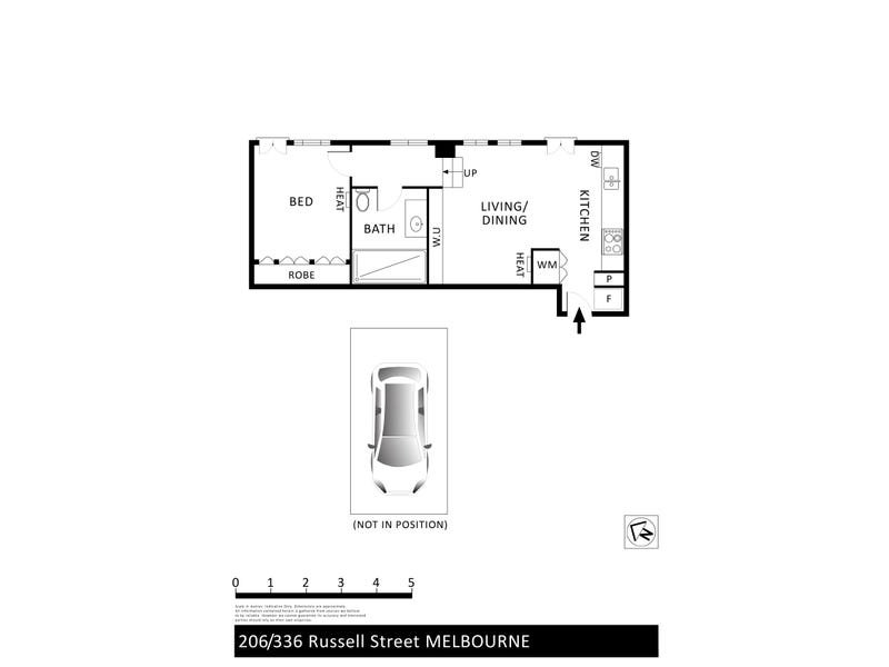 206/336 Russell Street, Melbourne, Vic 3000 - floorplan