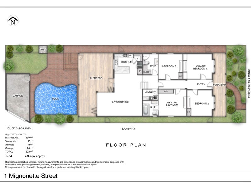 1  Mignonette Street, North Perth, WA 6006 - floorplan