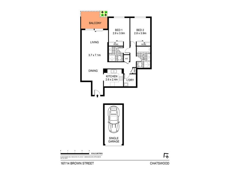 167/14 Brown Street, Chatswood, NSW 2067 - floorplan