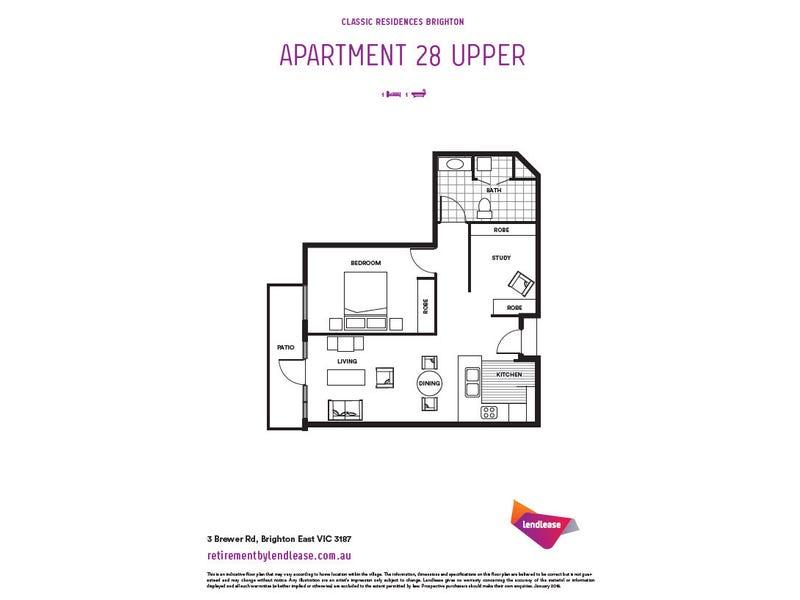 U 28/3 Brewer Road, Brighton East, Vic 3187 - floorplan