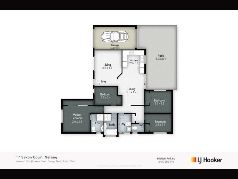 17 Saxon Court, Nerang, Qld 4211 - floorplan