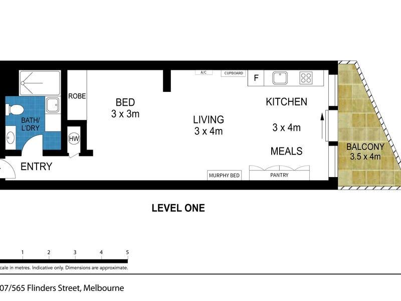 107/565 Flinders Street, Melbourne, Vic 3000 - floorplan