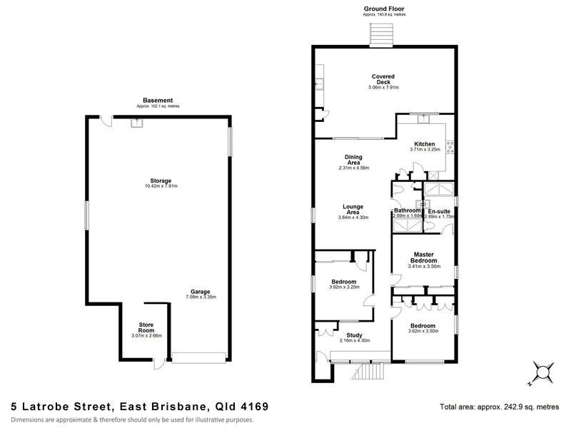 5 Latrobe Street, East Brisbane, Qld 4169 - floorplan